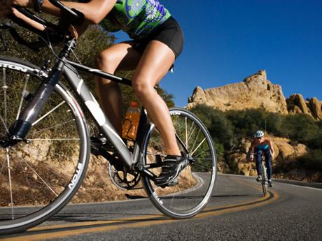 Cyclist Climbing Hills