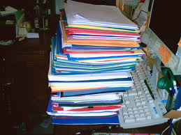 pile desk
