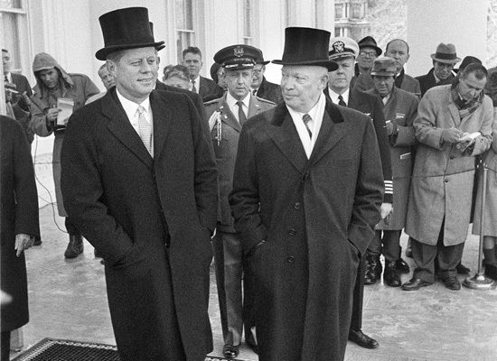 top hat kennedy eisenhower
